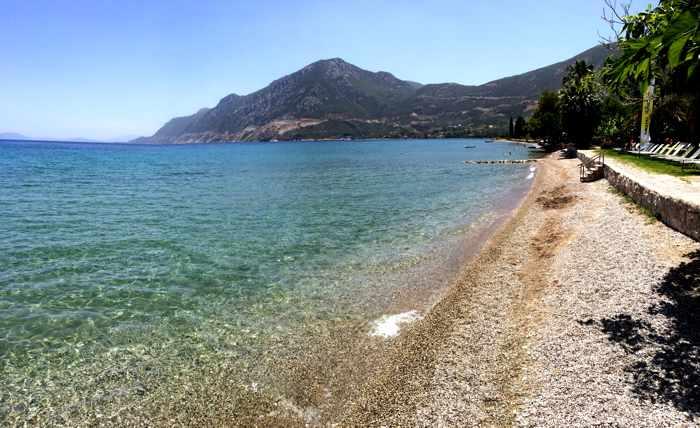 beach at Arcaia Epidaurus