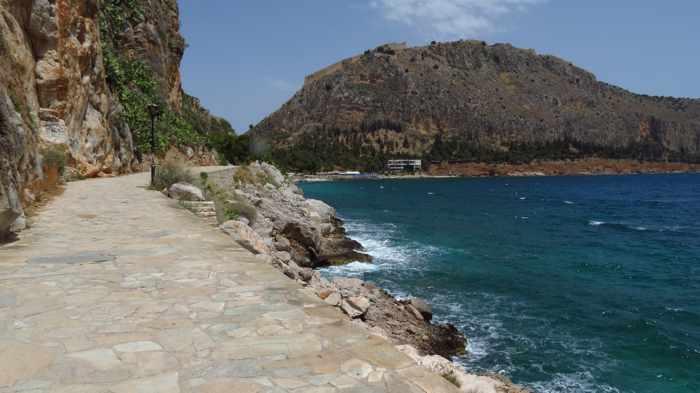 coastal swimming area at Nafplio