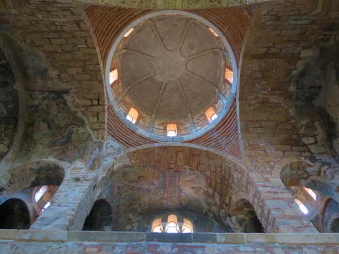 inside a church at Mystras