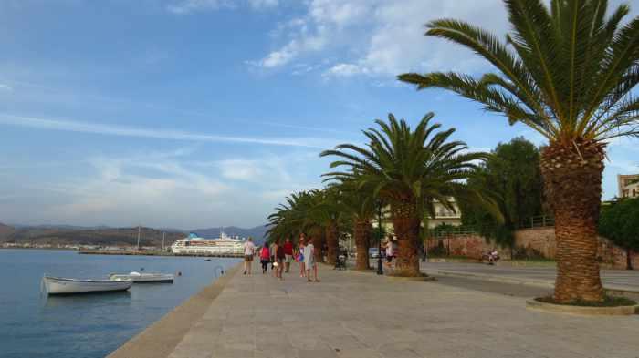 Nafplio harbourside promenade