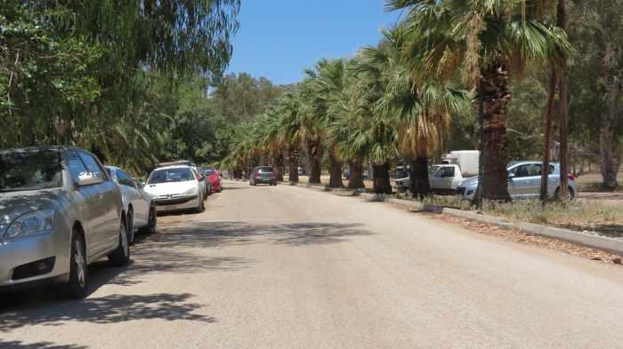 parking at Karathona beach