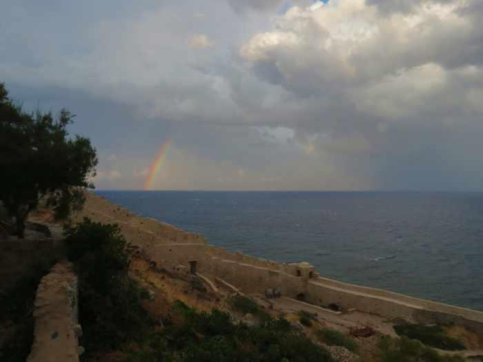 rainbow at Monemvasia
