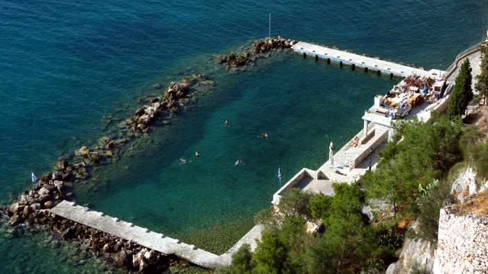 seaside swimming pool at Nafplio