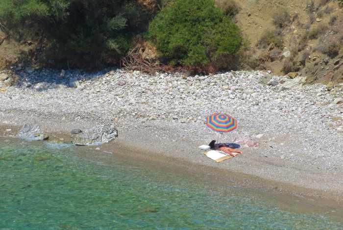 Ancient Asini beach at Tolo