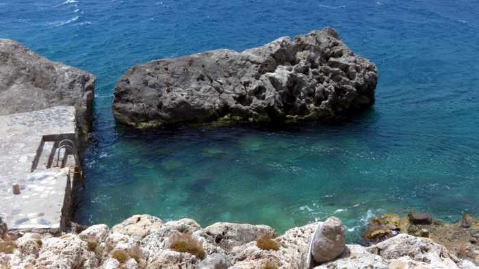 swimming spot at Monemvasia