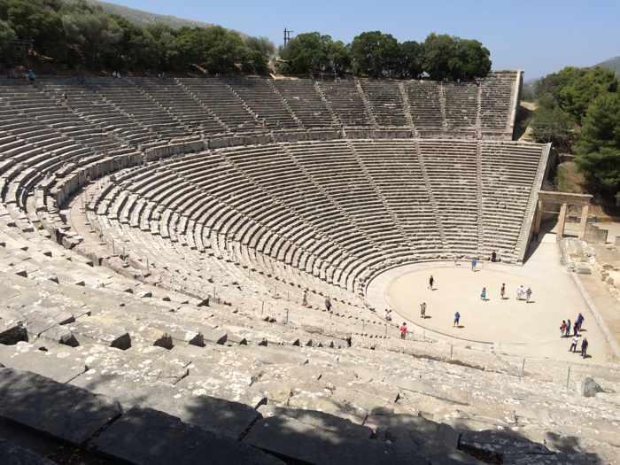 the Great Theatre at Epidaurus