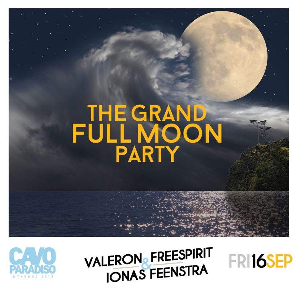 Cavo Paradiso grand full moon party september 16