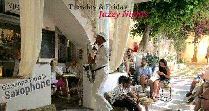 Vinos bar Mykonos live jazz