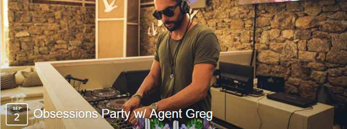 Kalua Bar Mykonos Obsessions party with DJ Agent Greg