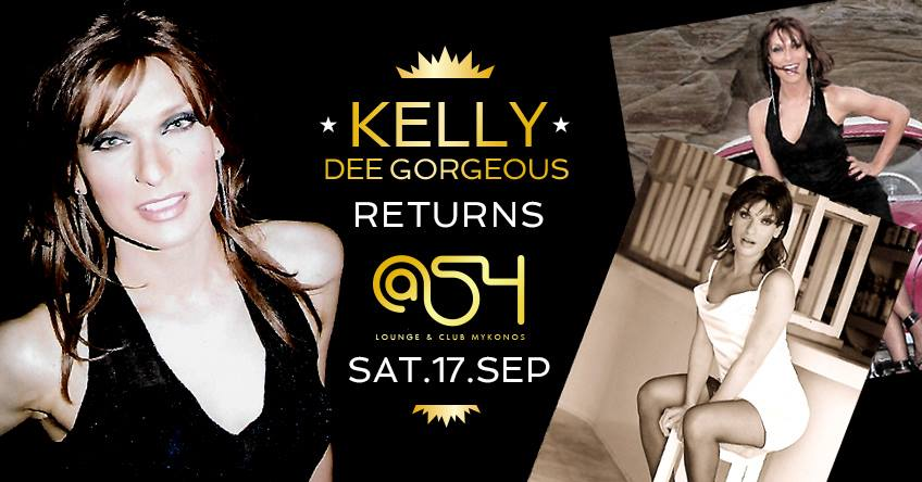 Kelly Dee Gorgeous show at @54 club on Mykonos