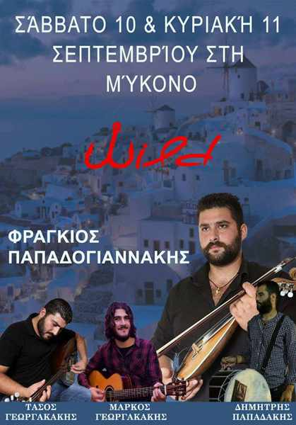 Wild Cafe Bar Mykonos live Greek music show