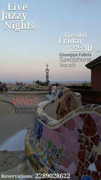 Vinos bar Mykonos live jazz events