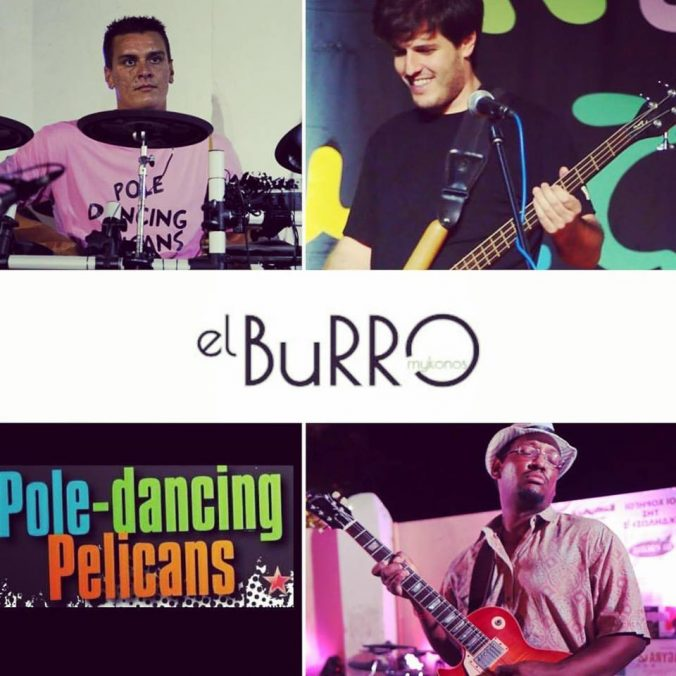 El Burro cafe mykonos live rock music event