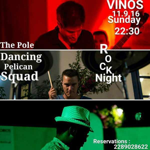 Vinos bar Mykonos live rock music event