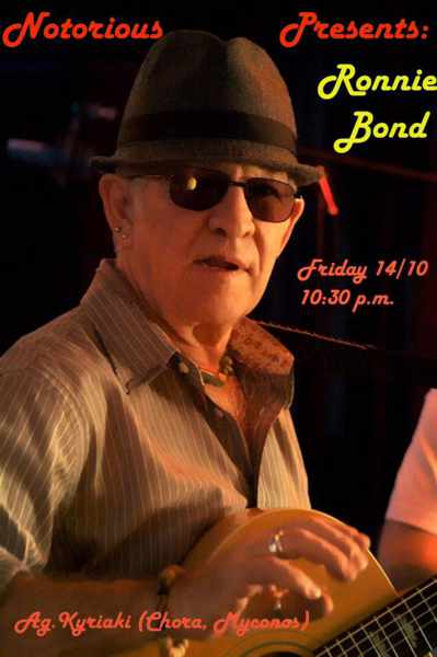 Notorious Bar Mykonos presents Ronnie Bond