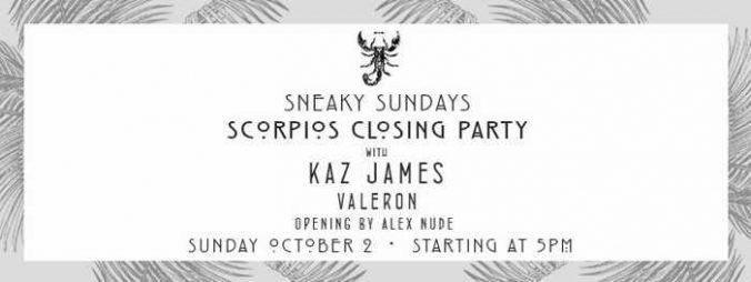 Sneaky Sundays season closing party at Scorpios Mykonos