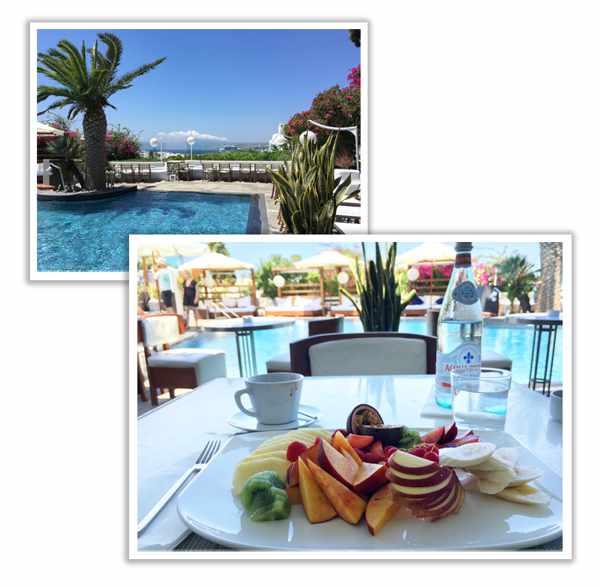 Belvedere hotel restaurant Mykonos