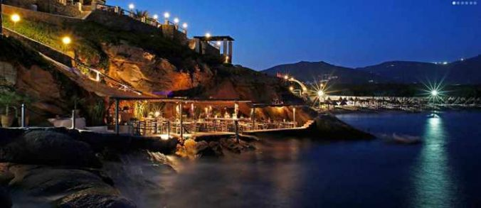 Spilia restaurant and seaside bar Mykono