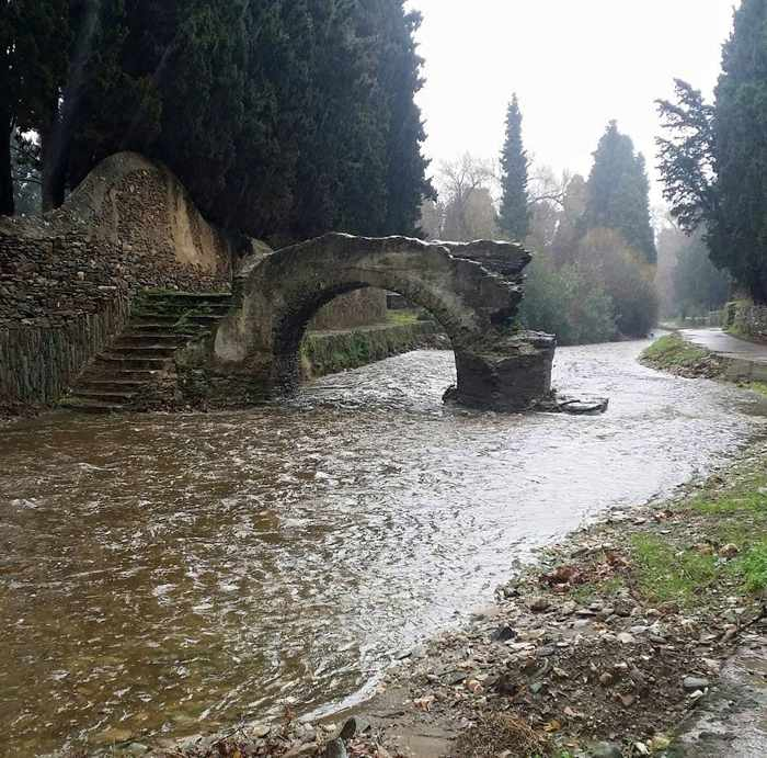 A stream on Andros after the January 24 rainstorm
