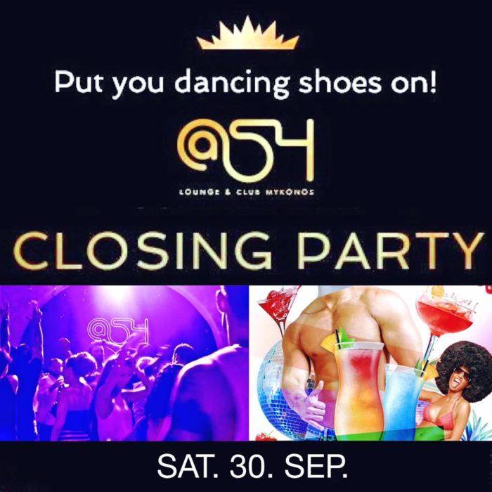 At54 club Mykonos closing party