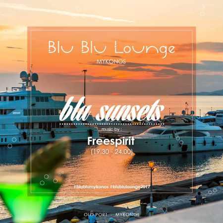 Blu Blu Lounge Mykonos Blu Sunsets event