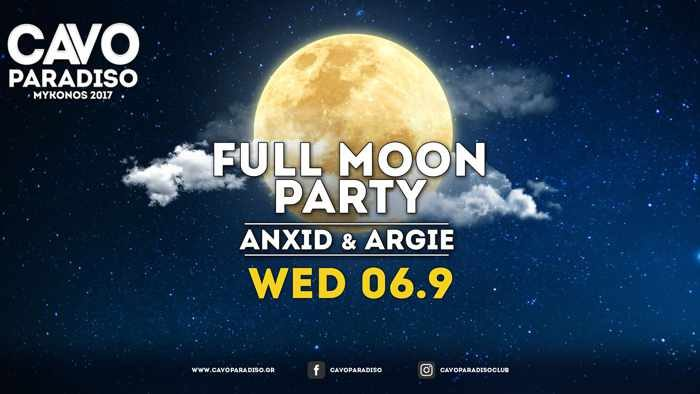 Cavo Paradiso Mykonos full moon party