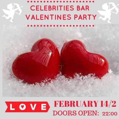 Celebrities Bar Mykonos Valentines Party