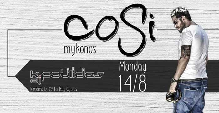 Cosi Bar Mykonos party event
