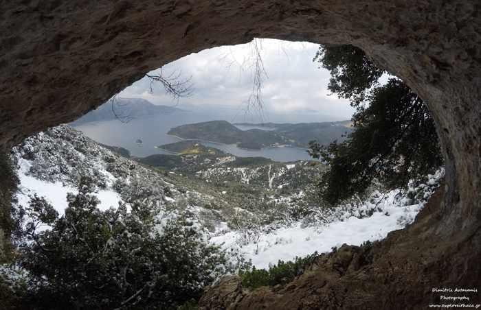 Koutoupa cave at Ithaca island Greece