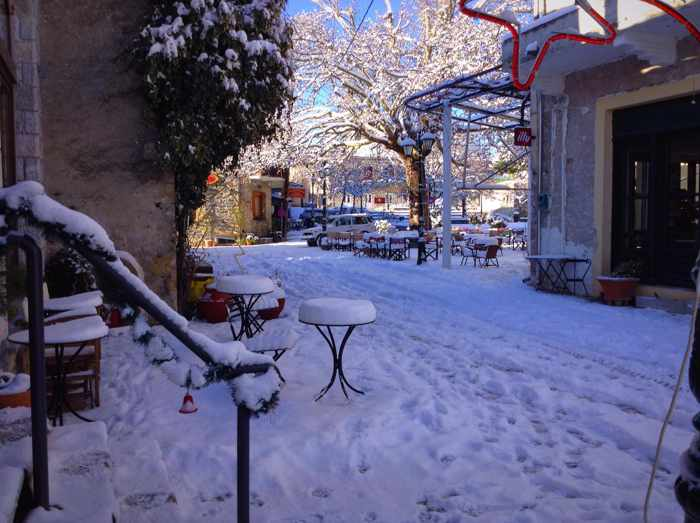 Karyes village in Lakonia Greece