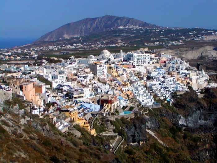Fira the capital of Santorini