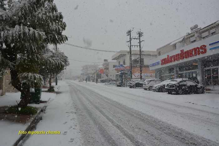 Snow in Chania Crete