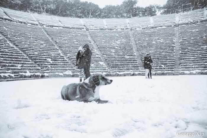 Snow at Epidaurus