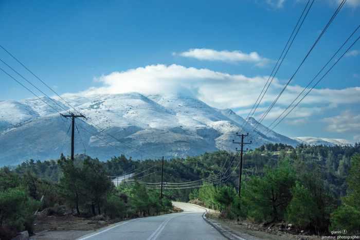 Atavyros mountain on Rhodes