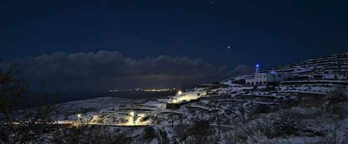 a mountain village on Tinos