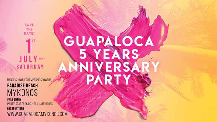 Guapaloca bar Mykonos 4th anniversary party