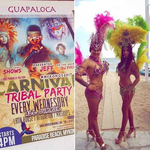 Guapaloca bar Mykonos Carnival Tribal Party