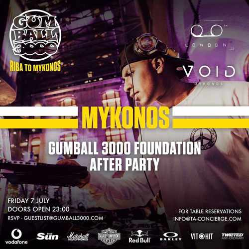 Gumball 3000  After Party Mykonos
