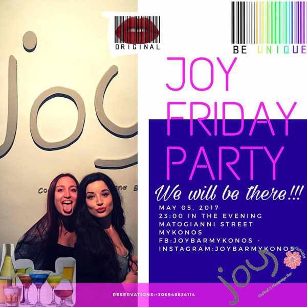 Joy Bar Mykonos Friday party