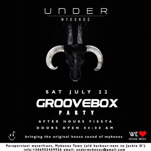 Under Mykonos club party event