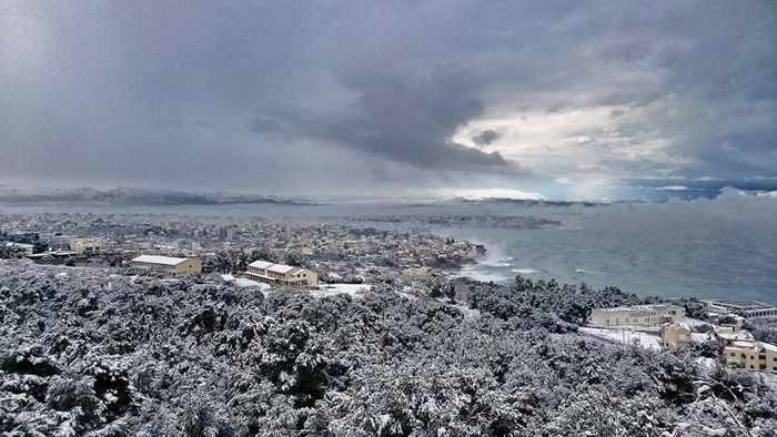 Snow at Chania Crete