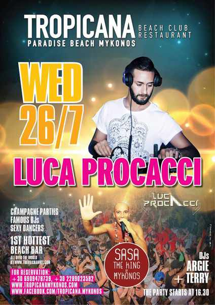 Tropicana Club Mykonos party event