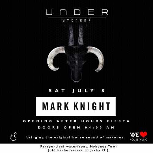 Under Mykonos nightclub party event