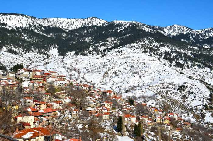 Metsovo village in Epirus Greece