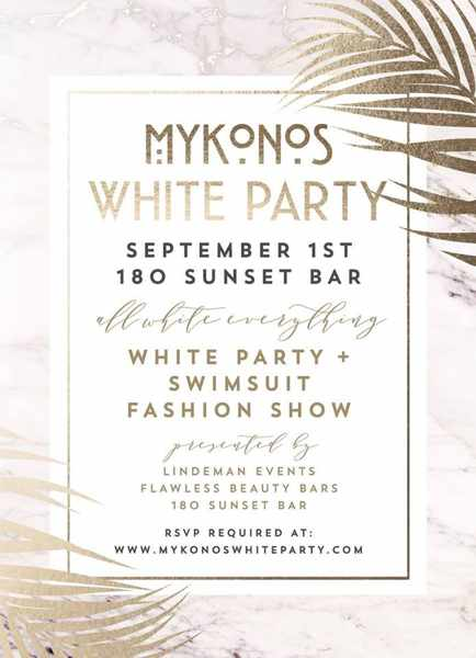 180 Sunset Bar Mykonos party event