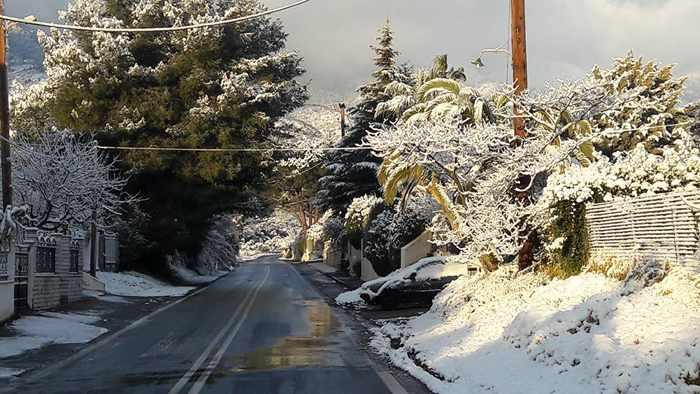 Snow at Sparta