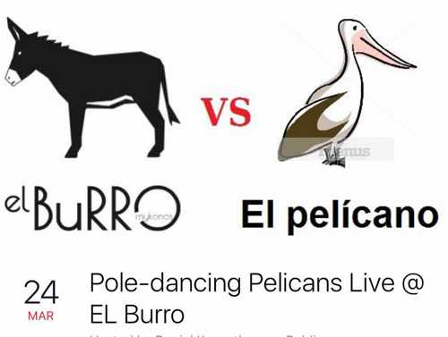 El Burro cafe-bar Mykonos party event 2017