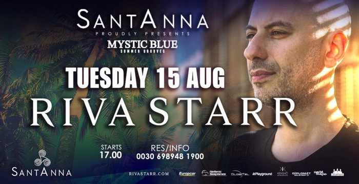 Riva Starr at SantAnna beach club Mykonos