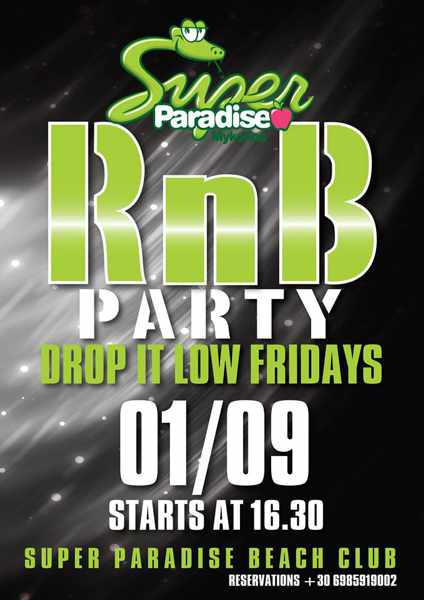 Super Paradise beach club Friday RnB party
