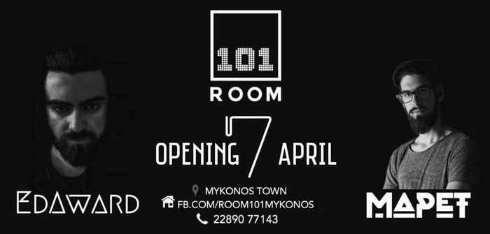 Room 101 club Mykonos opening announcement